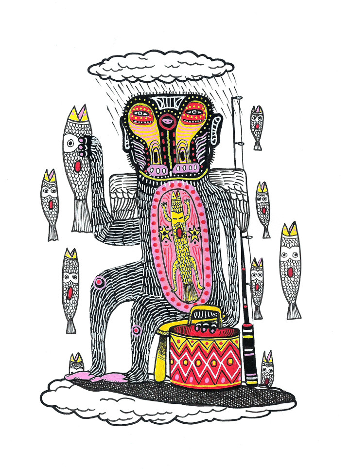 Pakal Sketch-Sea Monkey