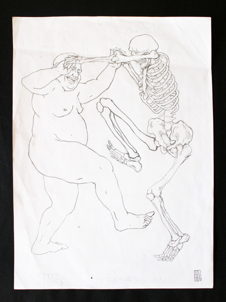 UNGA Sketch-Dancing Man and Skeleton