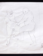 UNGA Sketch-Two Dancing Men