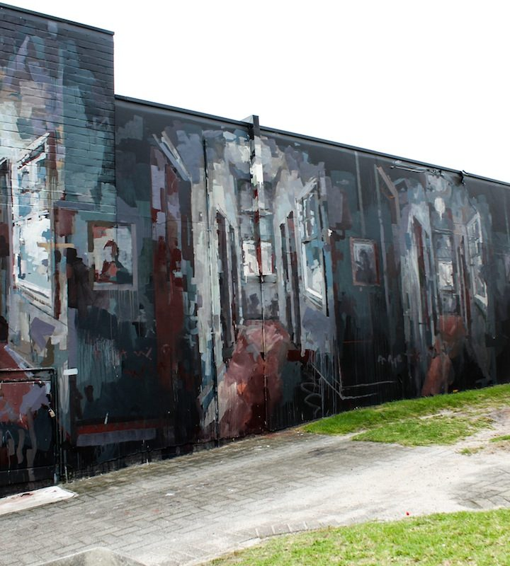 Borondo's FEARLESS finished mural for the PUBLIC Festival at the Curtin's University in Perth (Australia) in April 2016 Photo by Luke Shirlaw