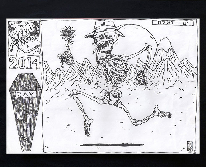 UNGA's Running Skeleton sketch