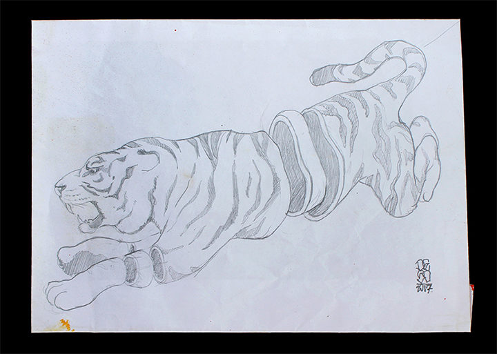 Deso Sketch-Sliced Tiger