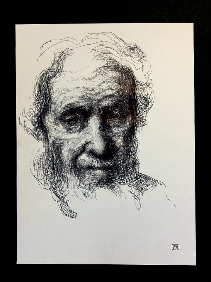 Pang Sketch-Untitled (Portrait of a Man)
